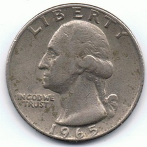 1965 washington quarter